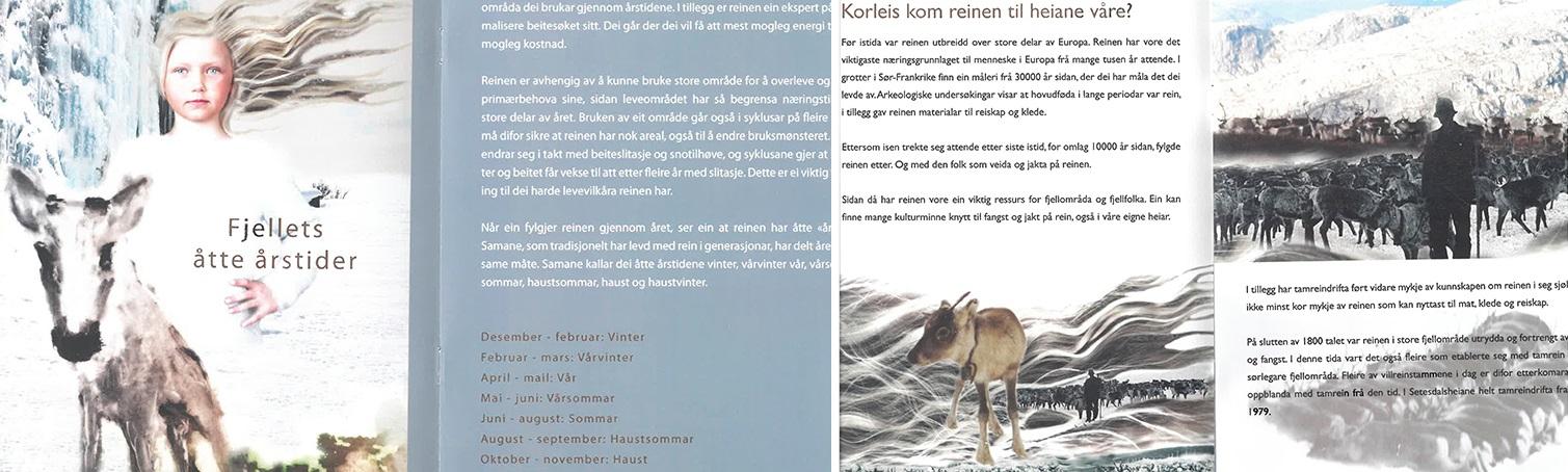 Bilettekst: Frå heftet om Fjellreinskulen