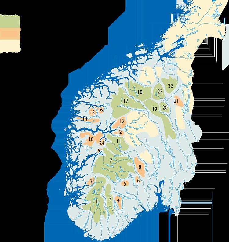 Villreinområder_norsk_uten regioner.png