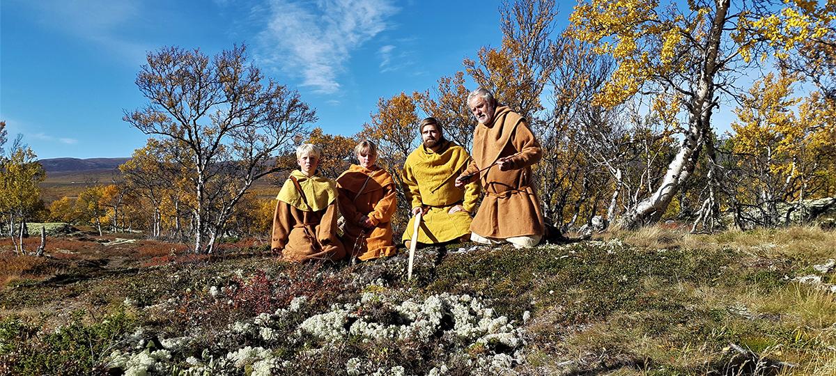 Bilde fra filminnspillingen om villreinfangsten i Oppdal. Foto: Kristin Prestvold/Trøndelag fylkeskommune