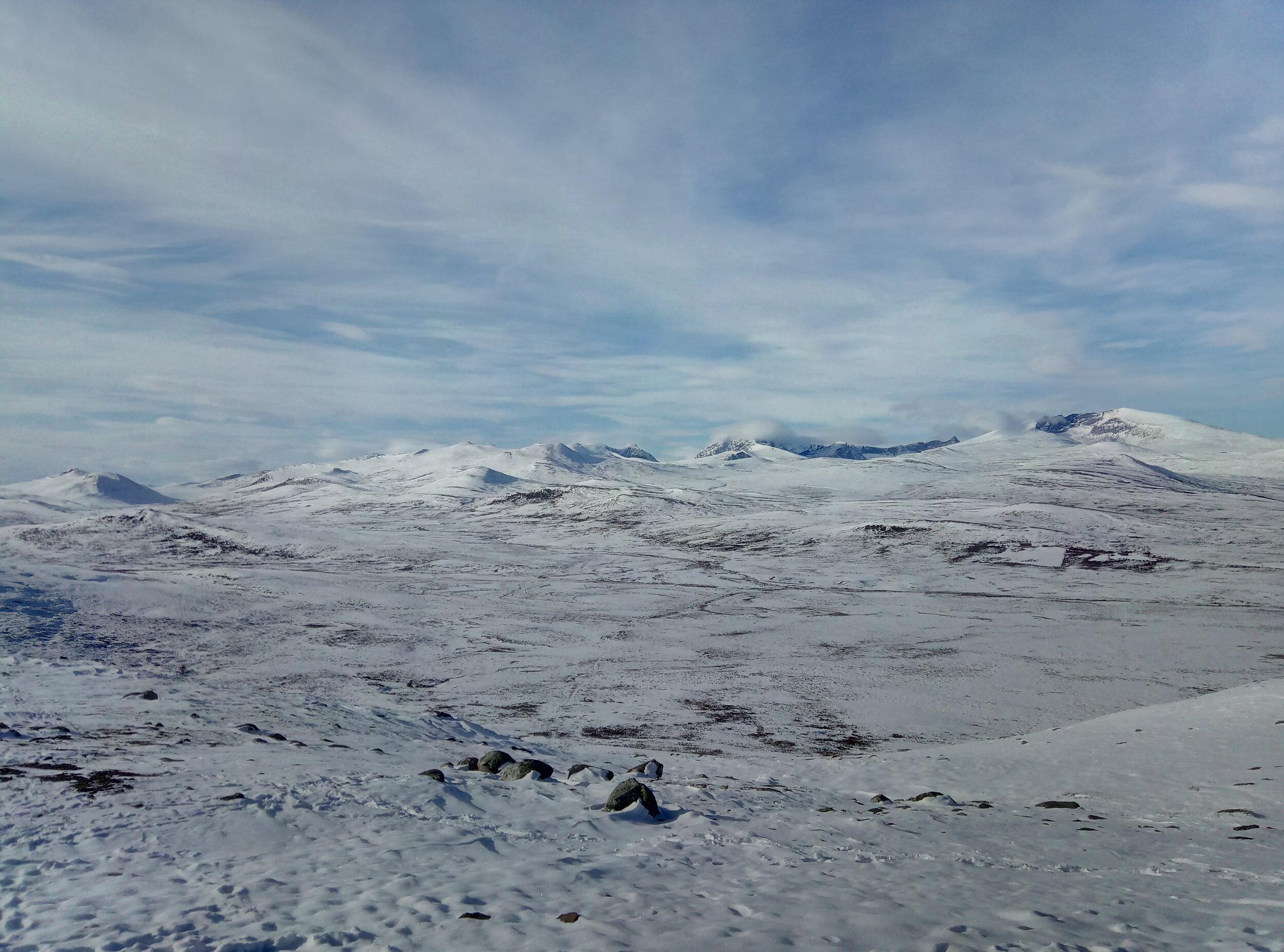 Vinteren har kome på viewpoint SNØHETTA
