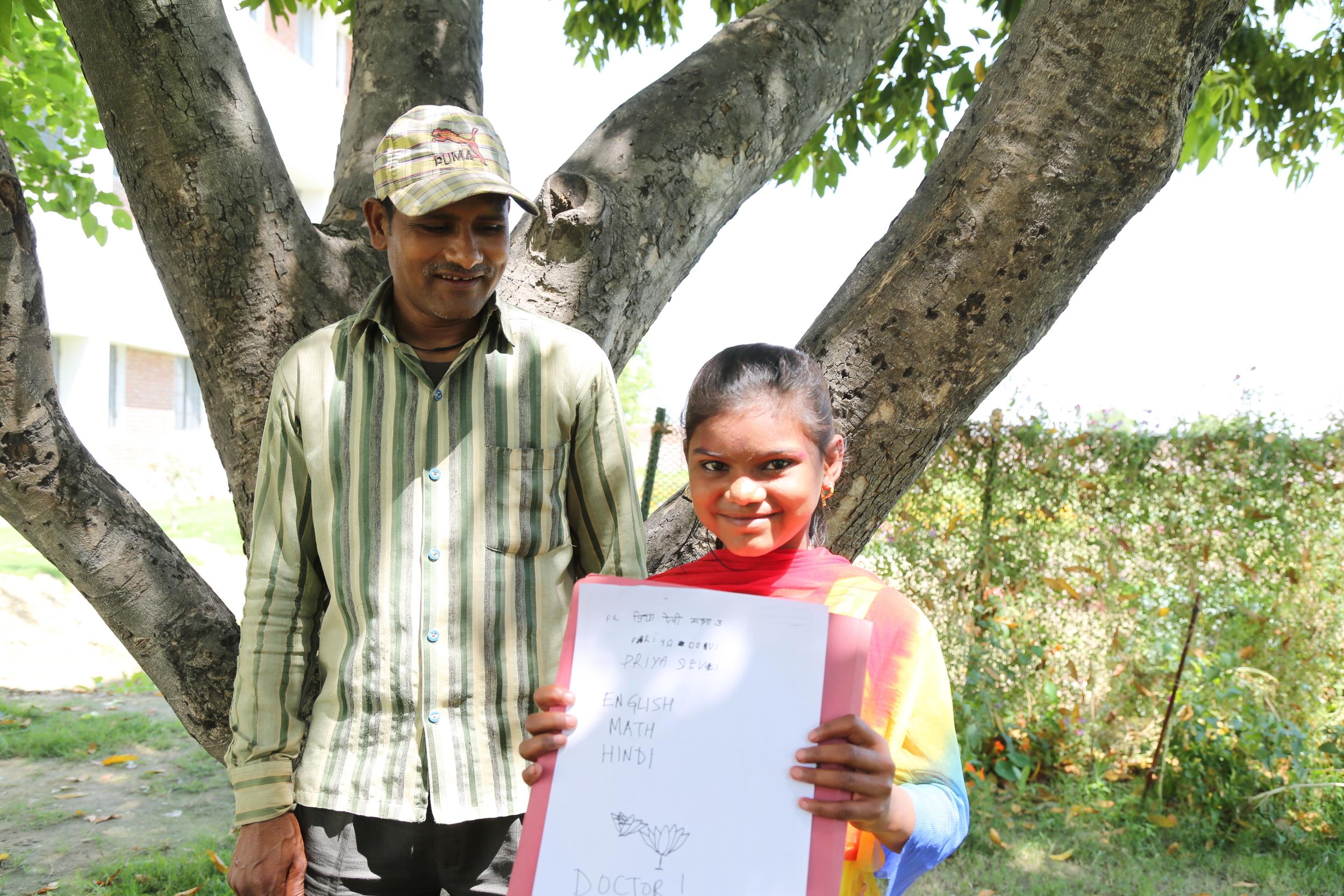 Priya Devi likes English, Hindi & Mathematics