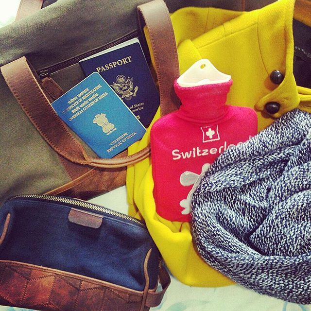 Packing for cooler lands avec #yellowcoats #scarves and hot water bottles. #trmtabready #travelingtrmtab. See you in a week, beautiful #london!