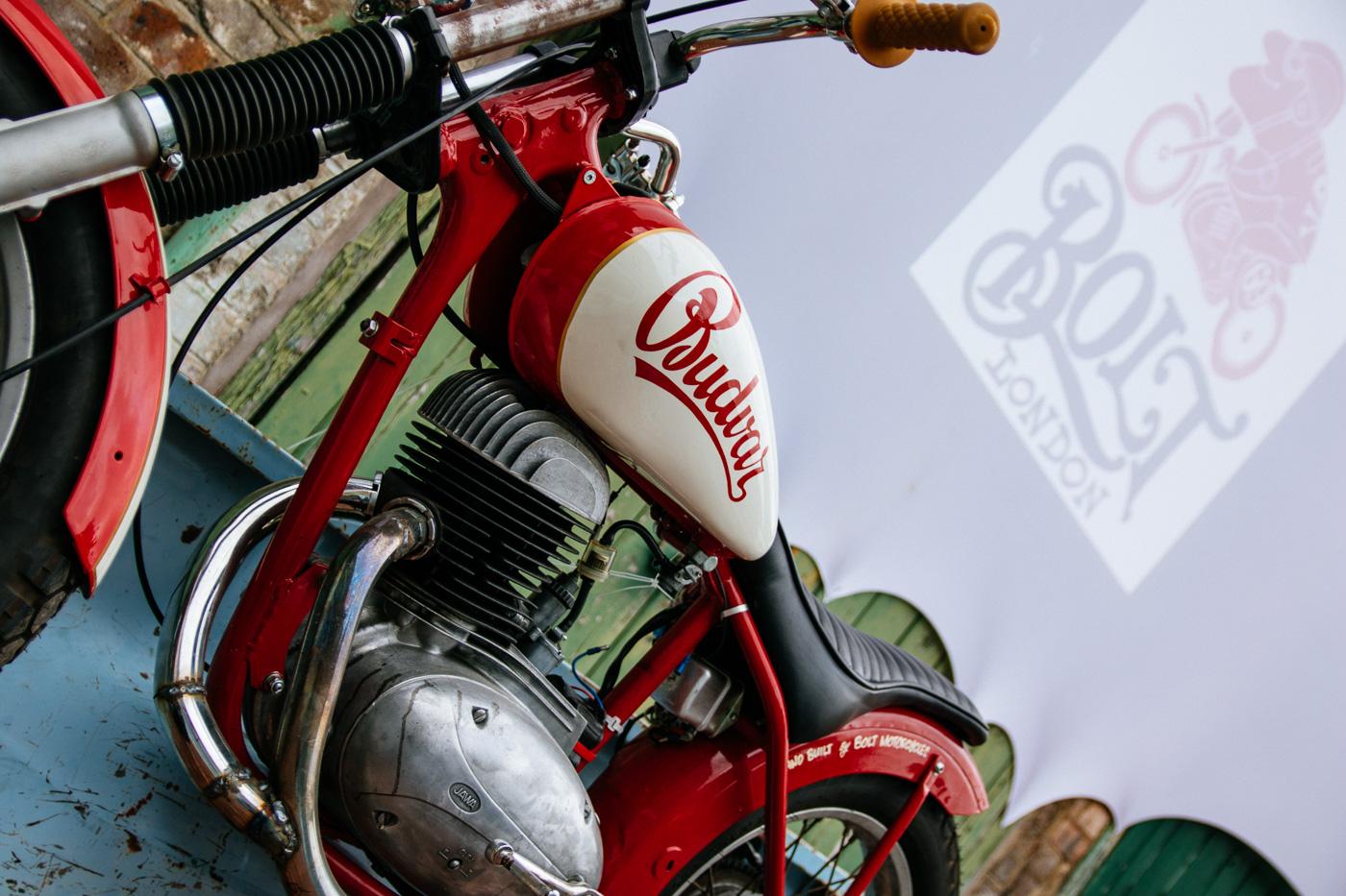 budvar bobber classic motorcycle