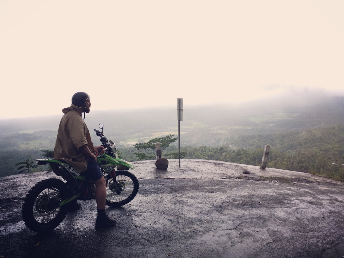 Making our way down an Active Volcano in the monsoon rains Bali - Jan