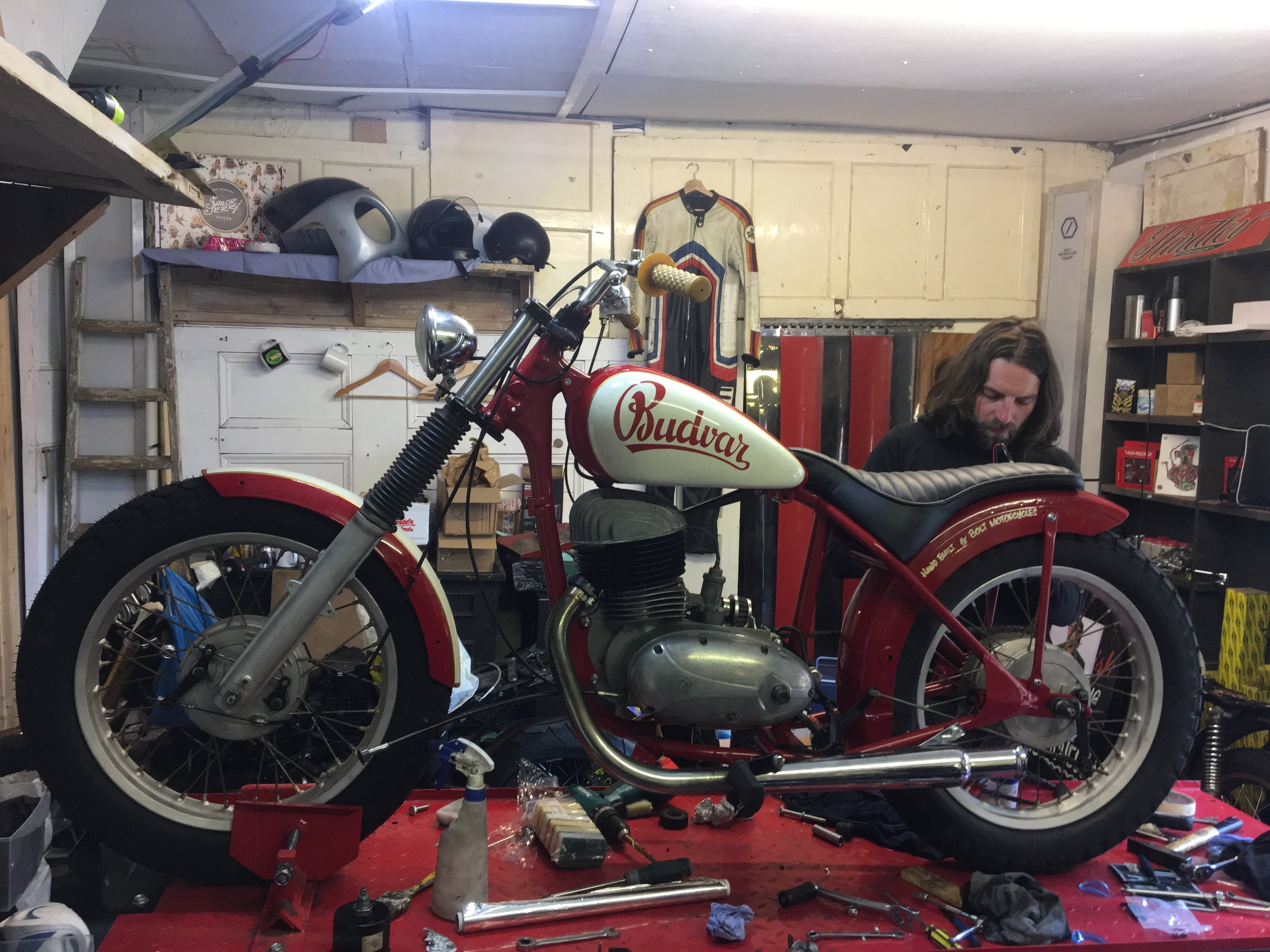 Simone worked tirelessly to complete the Jawa build
