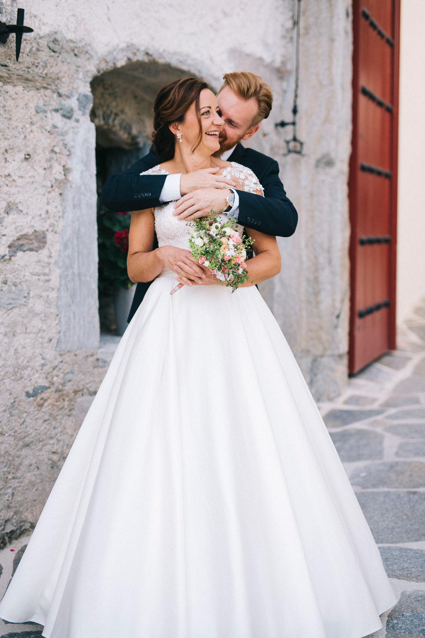 Hochzeit Schloss Mittersill Brautpaar