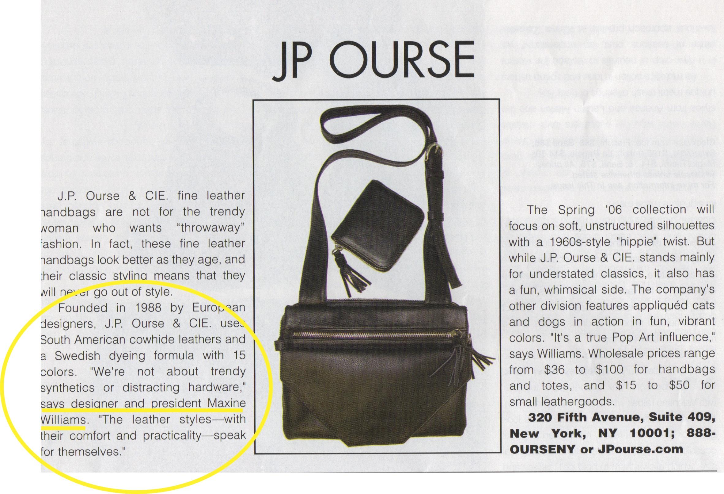 More publicity in AccessorieMagazine