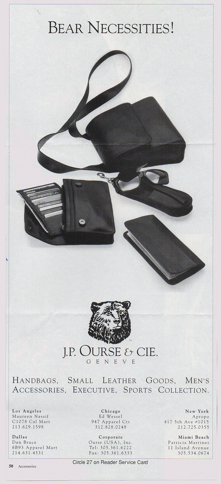 Ad in Accessories and WWD