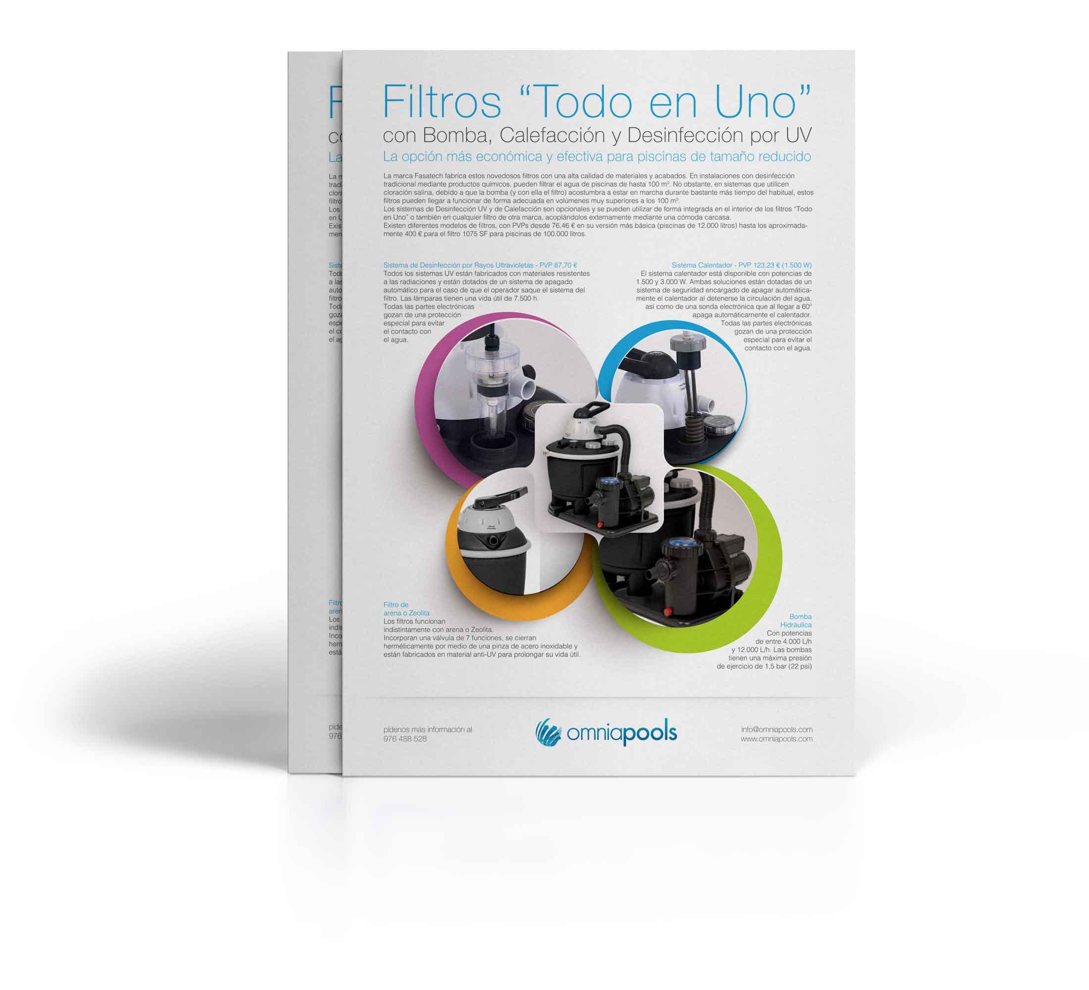 Filtros Integrales que incluyen Bomba, Sistema UV y Calefacción
