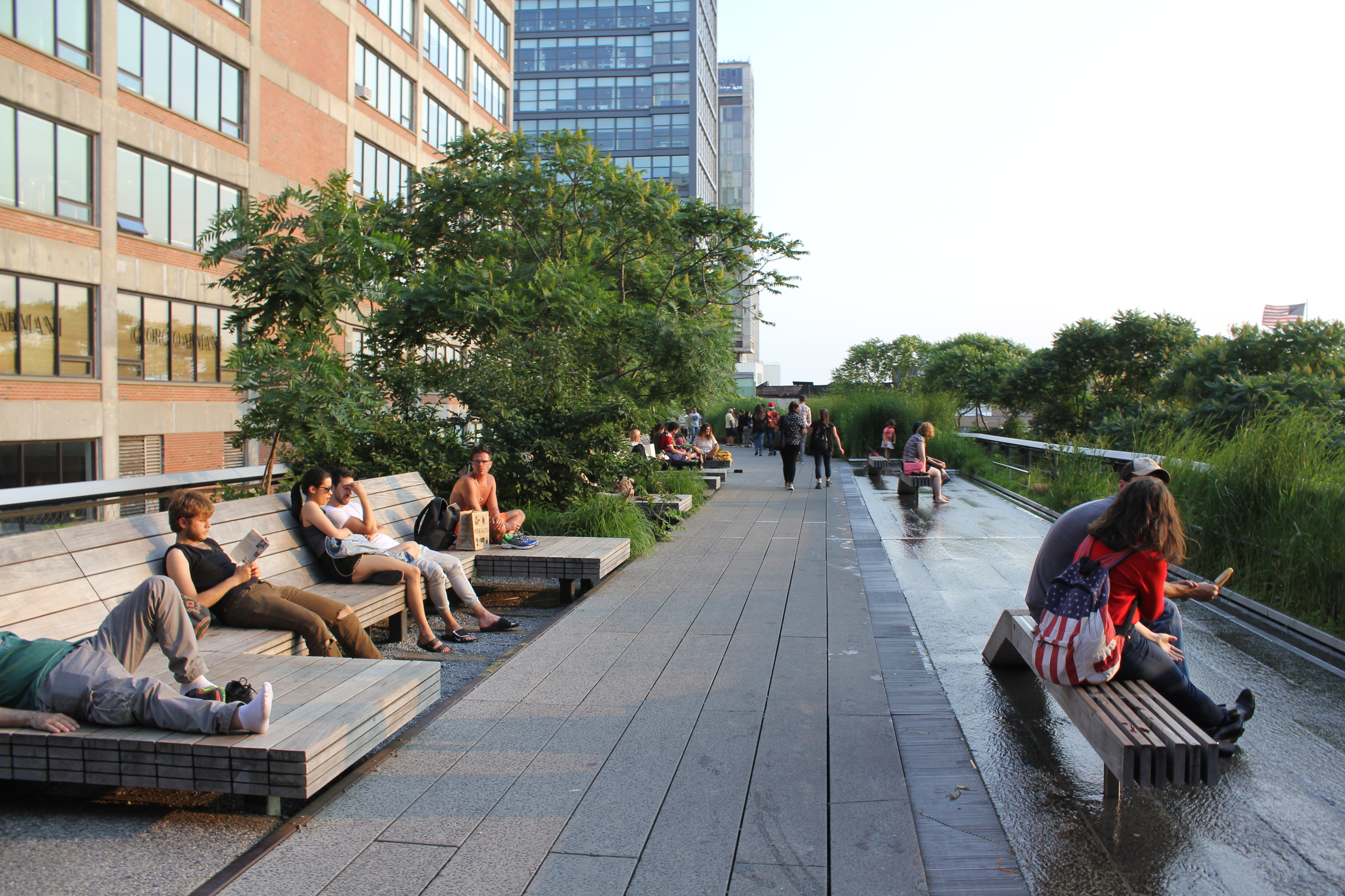 The Highline at sunset. Short but sweet. A different perspective of Midtown down to the Meat Packing District.