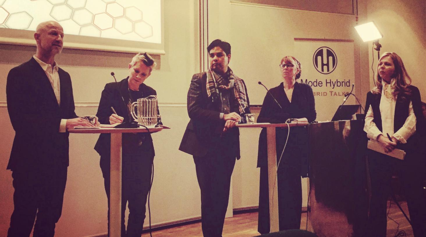 Hybrid Talking with Martin Johnson (left), Eduardo Escobedo, Susy Paisley and Annika Shelley