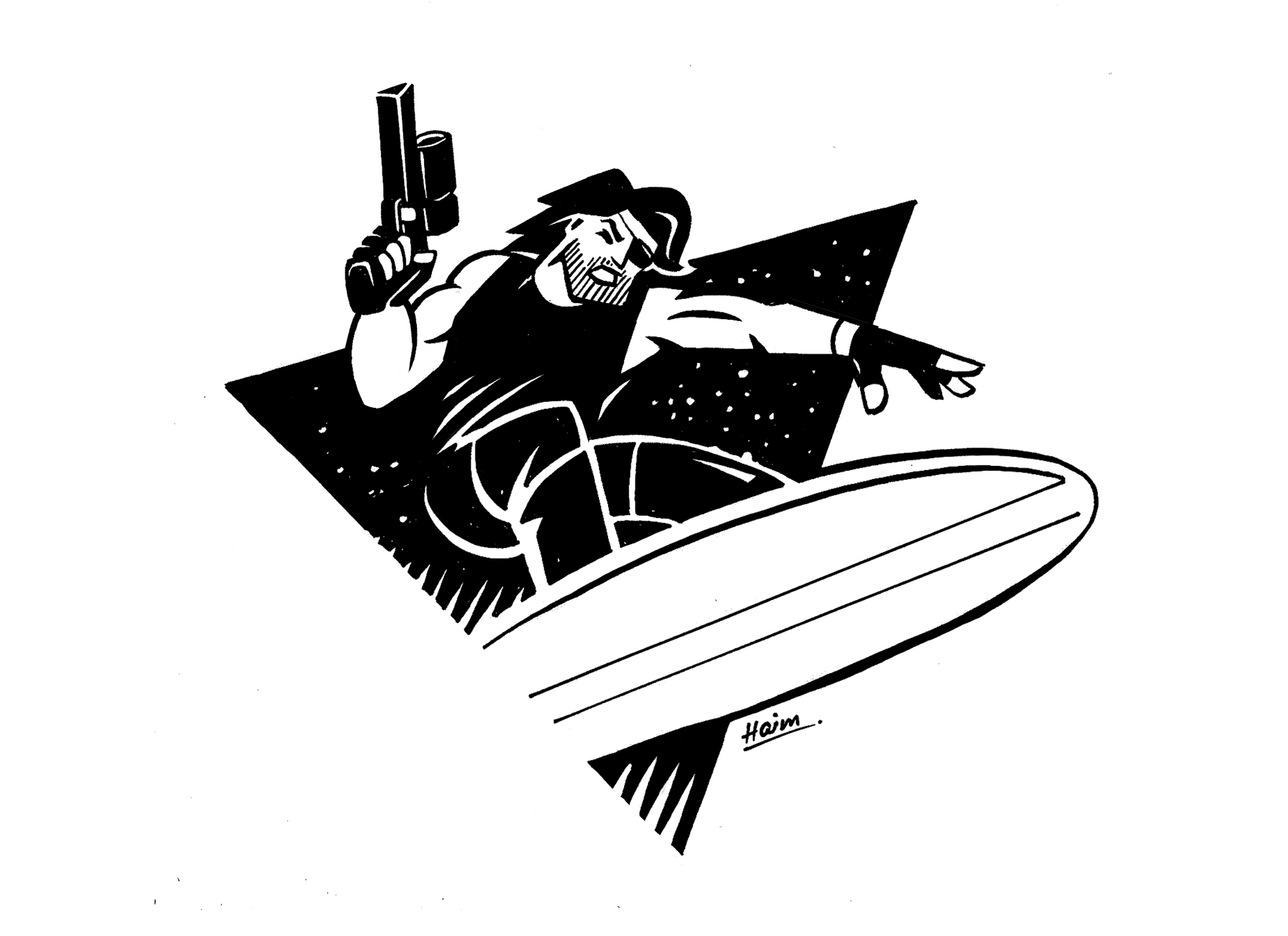 The only dude i wanna draw this month. Escape from LA/NY 4 Life.