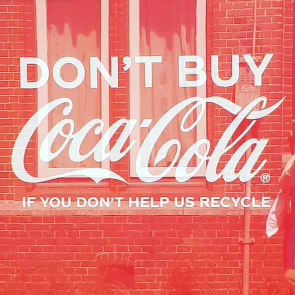 Brand statements. Are actions equals to  statements? #branding #cocacola #recycle #can #betterworld #red