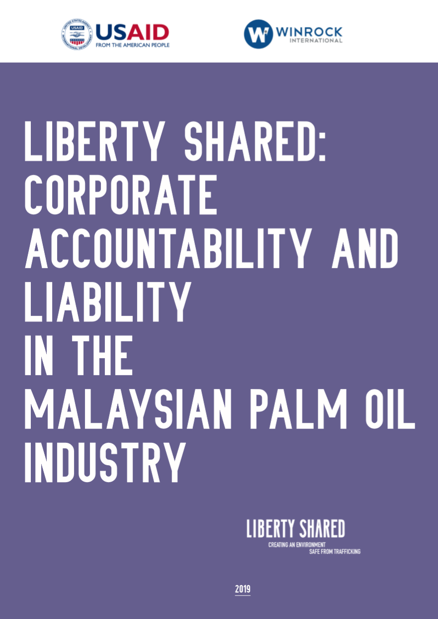 - The report examines the current underlying framework of law and governance that impose greater accountability and liability on businesses participating in the palm oil industry. The palm oil industry has been linked to longstanding environmental issues and ongoing violation of labour rights, including forced and child labour. To a degree, the palm oil industry does openly accept that the social and environmental issues exist and it recognises that broader society increasingly wants these addressed because over the years it has responded with various initiatives. But fundamental problems persist and the RSPO's efforts have not raised the standard of practices. This lack of resolution is largely driven by the failure of the industry and those concerned by the industry's impact to agree on the nature and extent of the problems. The report argues that ethical responsibility needs to sit in a framework of clear criminal, civil and regulatory liability so that arguments of business ethics are a refinement to an underlying legal position, they cannot be the primary default position for corporate governance.
