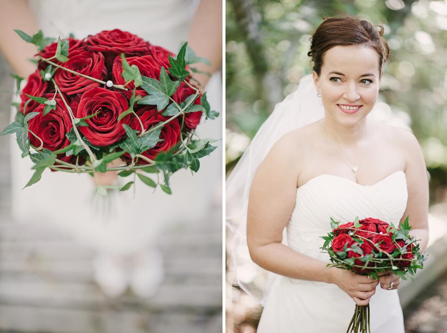 Bröllop röda rosor