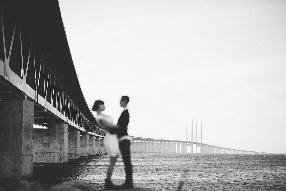 Weding by the bridge