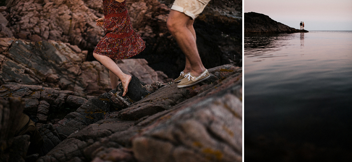 Bare foot portraits in the night