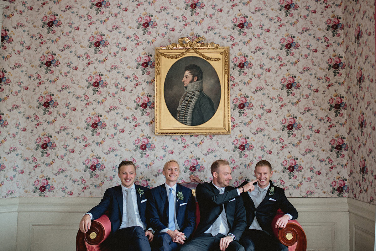 The boys in a sofa