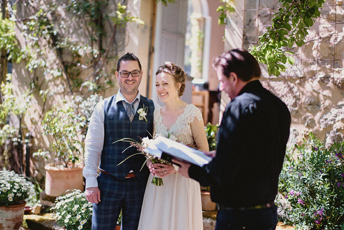 Wedding ceremony with Swedish priest in Valldemossa Mallorca