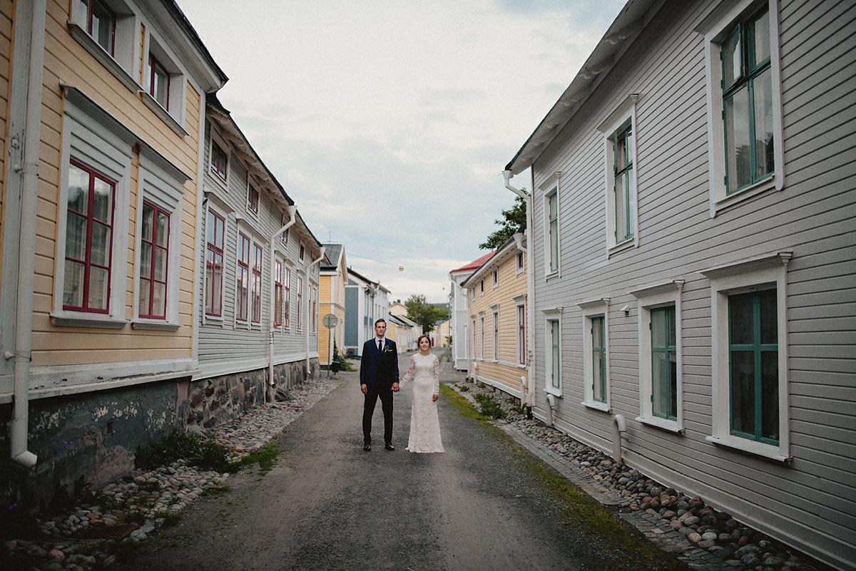 City wedding portraits Sweden