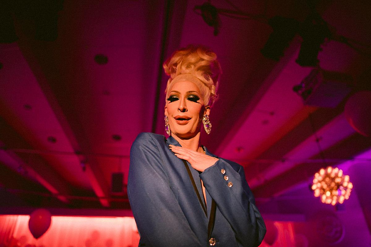Transgender toastmaster extravagant