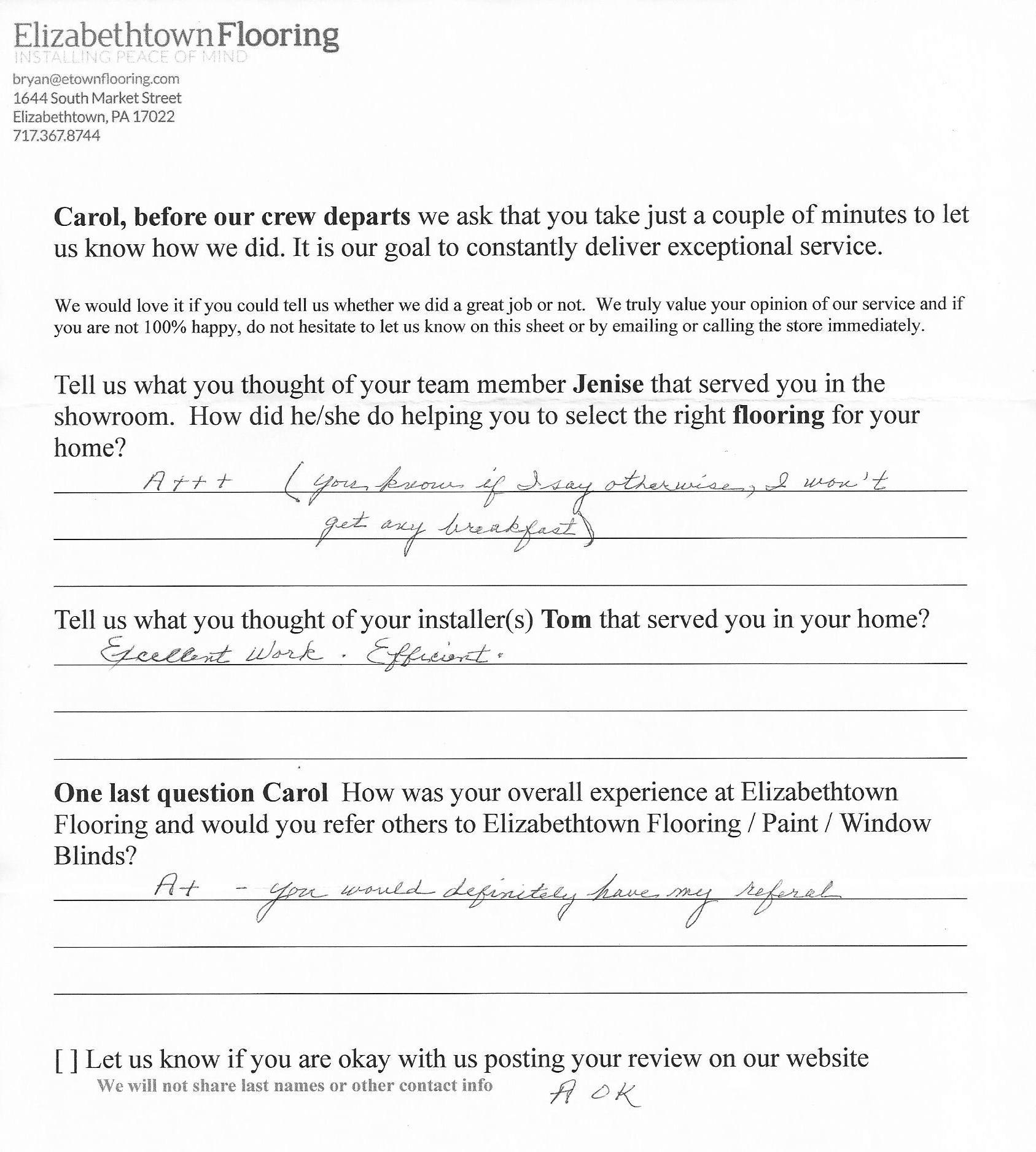 Flooring Review - Carol from Elizabethtown.jpg