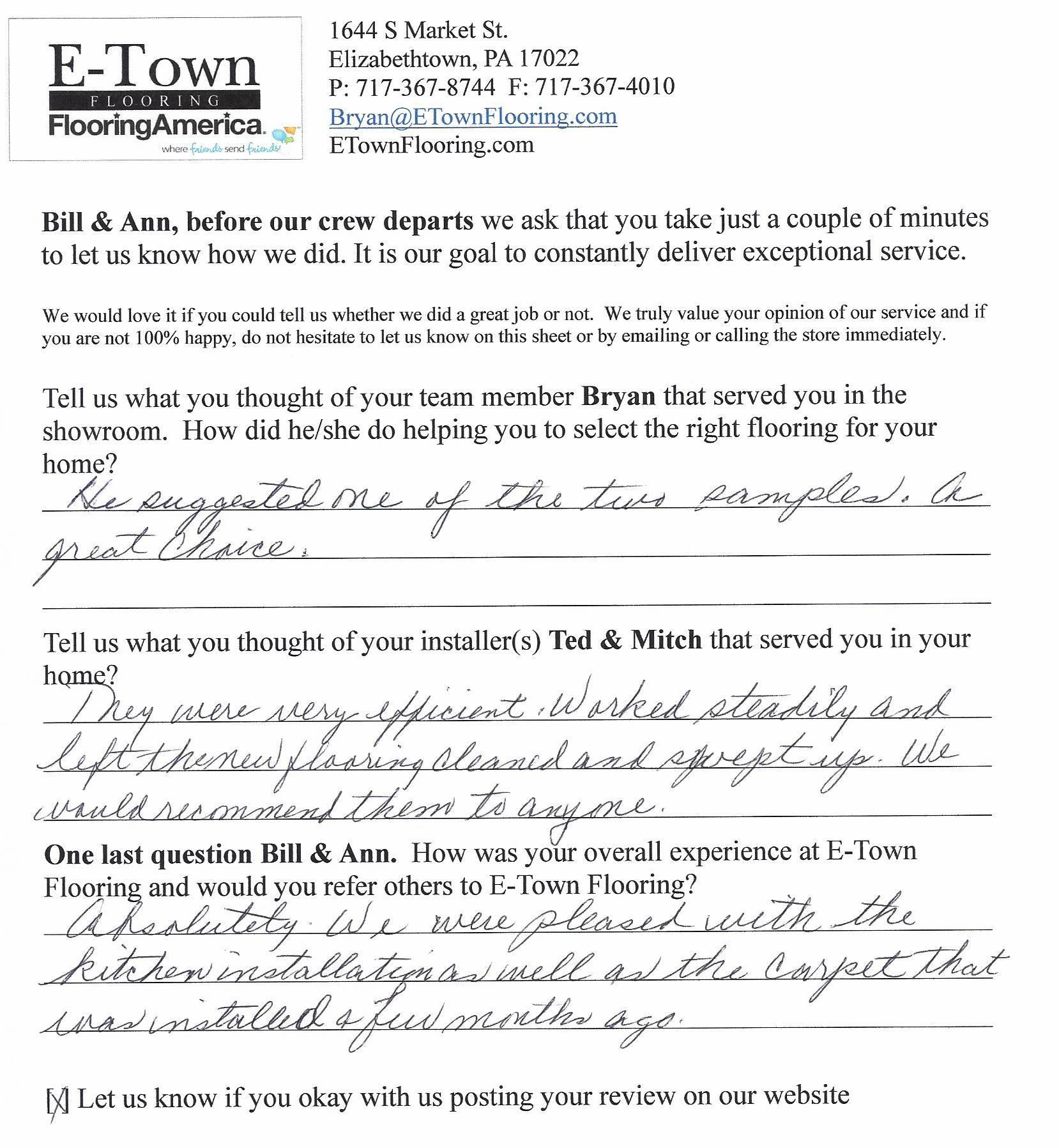 Flooring Review - Bill & Ann from Mount Joy.jpg