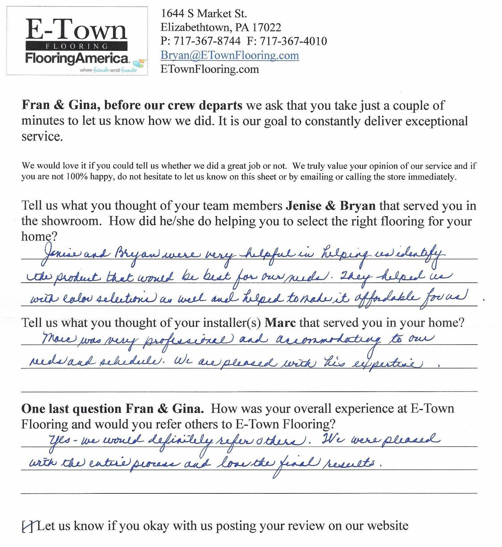 Flooring Review - Fran & Gina from Elizabethtown.jpg