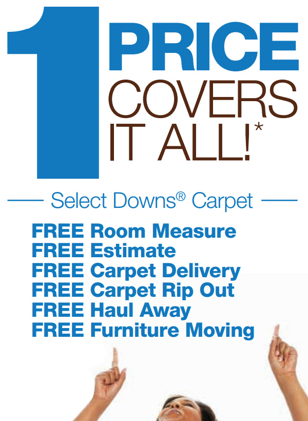 Downs One Price Sale - Free Extras - Elizabethtown Flooring