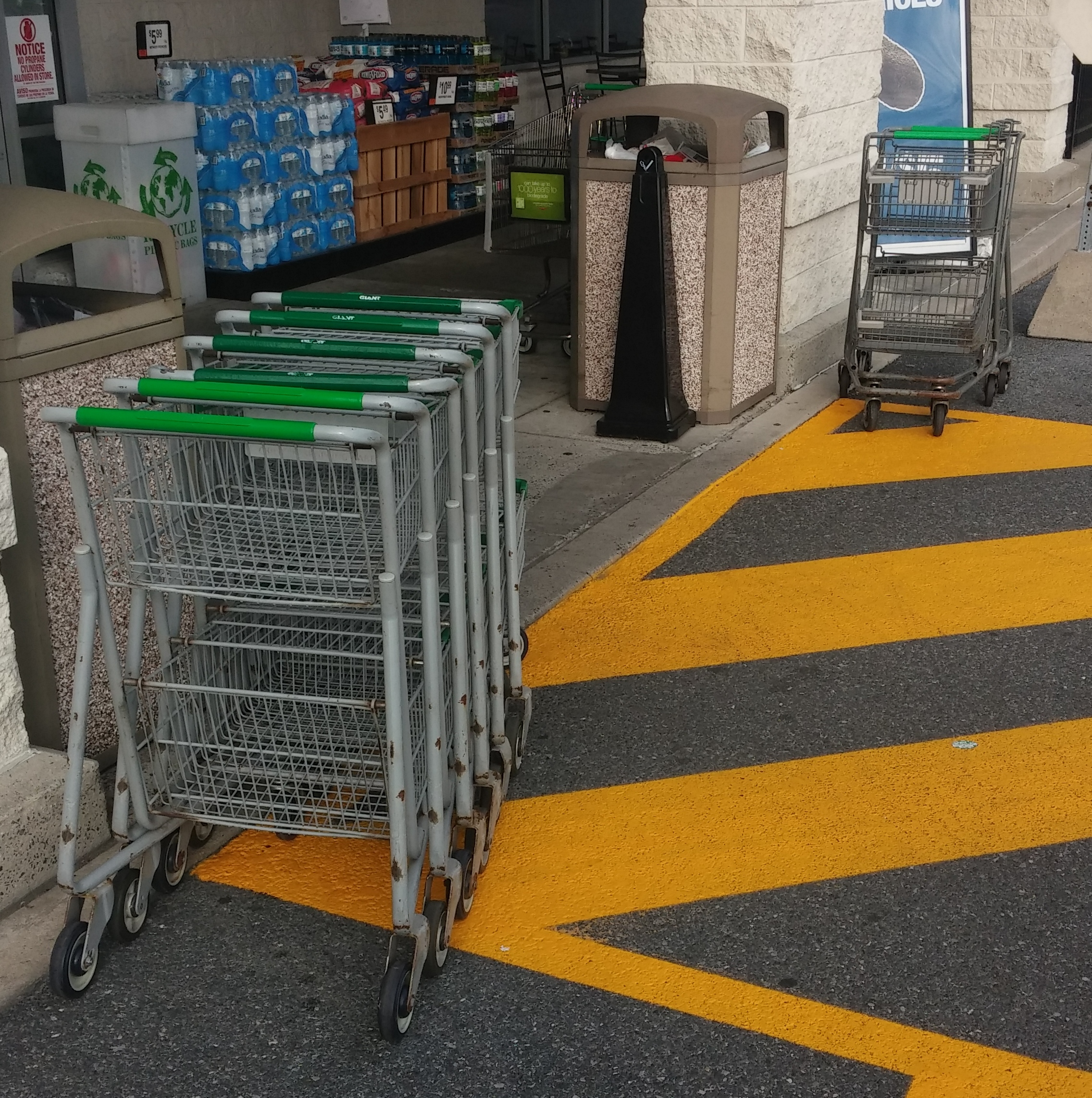 Paul preparing for Masonic Village residents with carts at Giant Food Elizabethtown