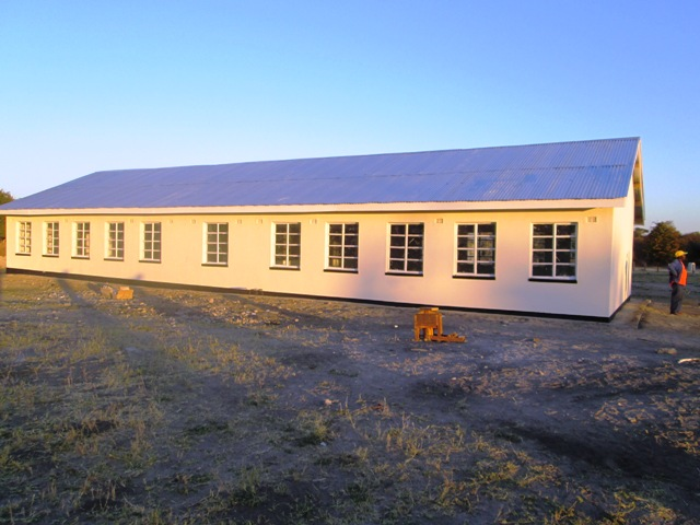 Sihazela Junior School was completed on July 4, 2014. This is the view from the back.