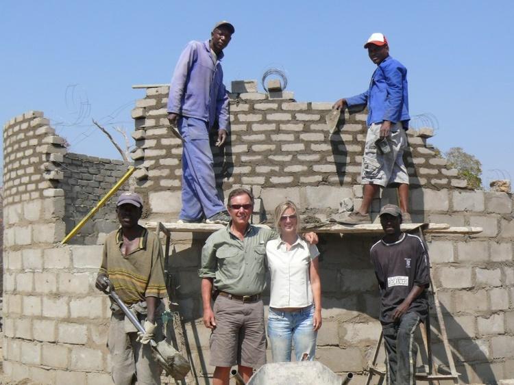 Teacher housing under construction  at Mtshayeli Junior School.