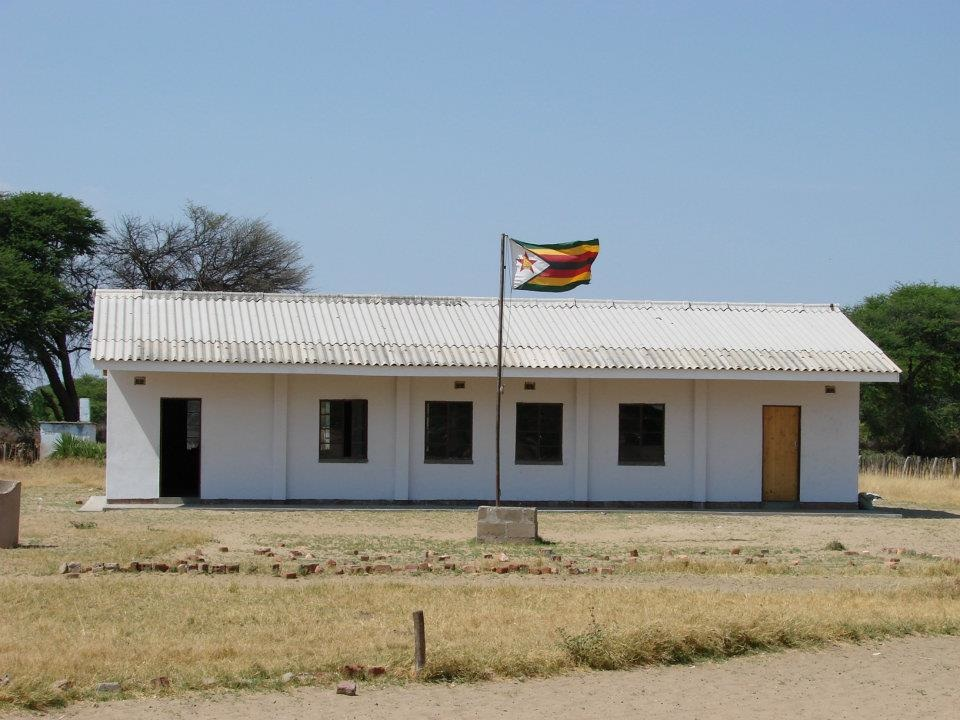 Our new school block at Mtshwayeli School. We have recently supplied the classroomwith steel tables and chairs. We try and use steel since it is a long lasting material.