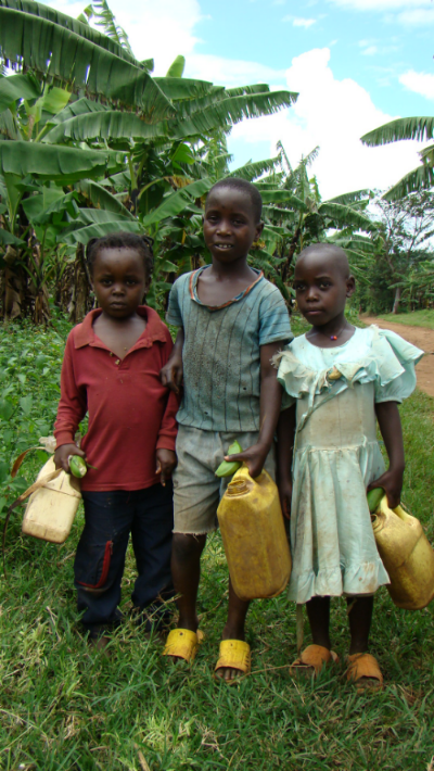 These children's nearest source for water was 8 miles away (one way) prior to the building of their well. They would often walk alone with their siblings before sundown to fetch water. This water well has a positive impact on the quality of life in this community.
