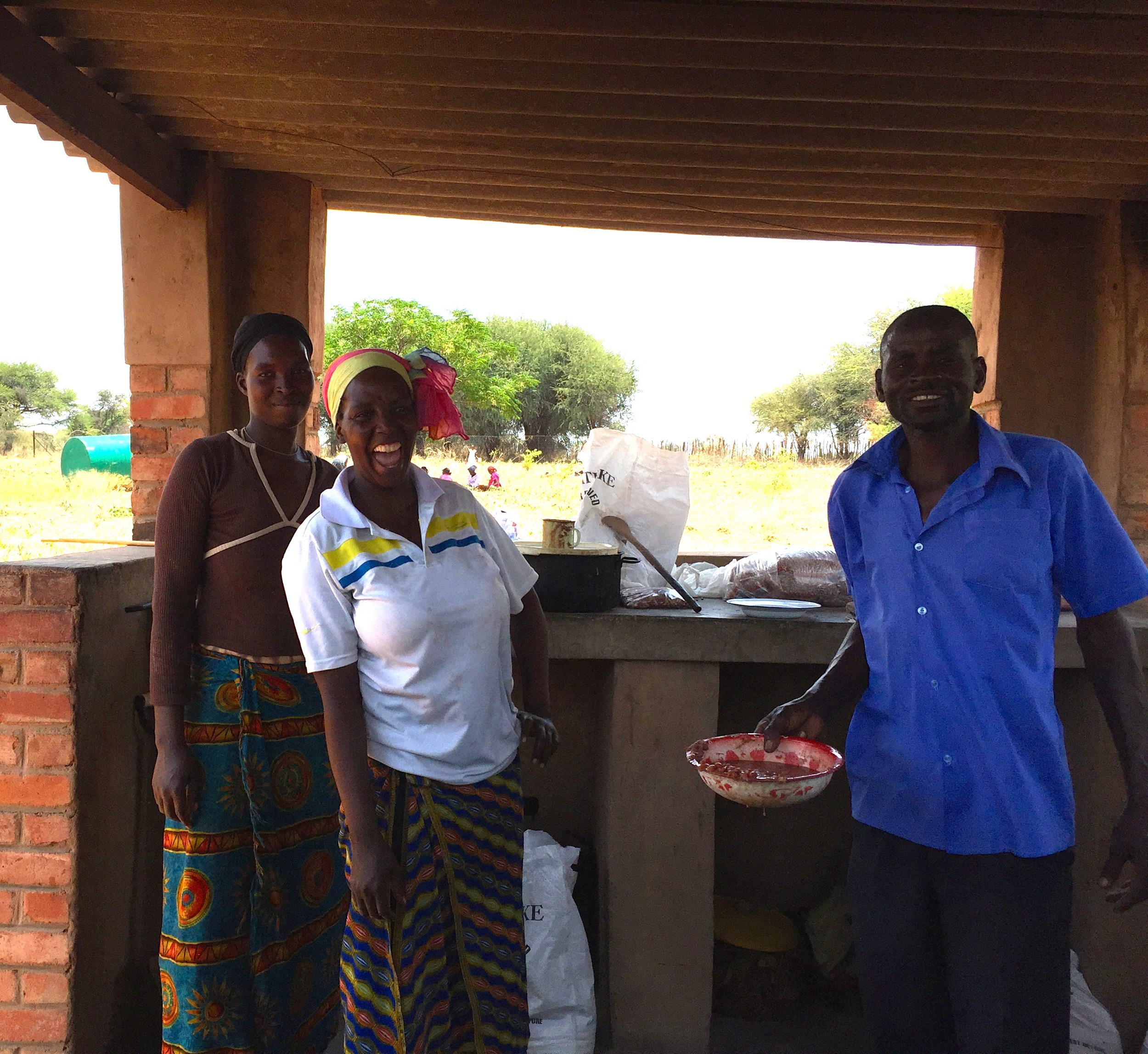 Each patient receives a free meal of sadza (cornmeal) and beans.