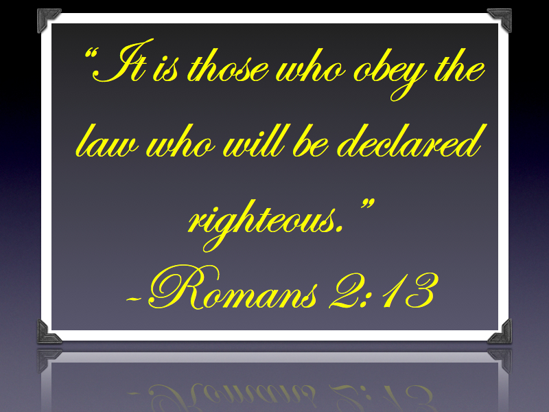 Romans 2.13 and James 2.24.001