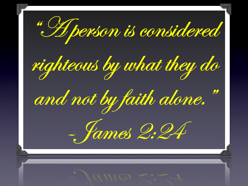 Romans 2.13 and James 2.24.002