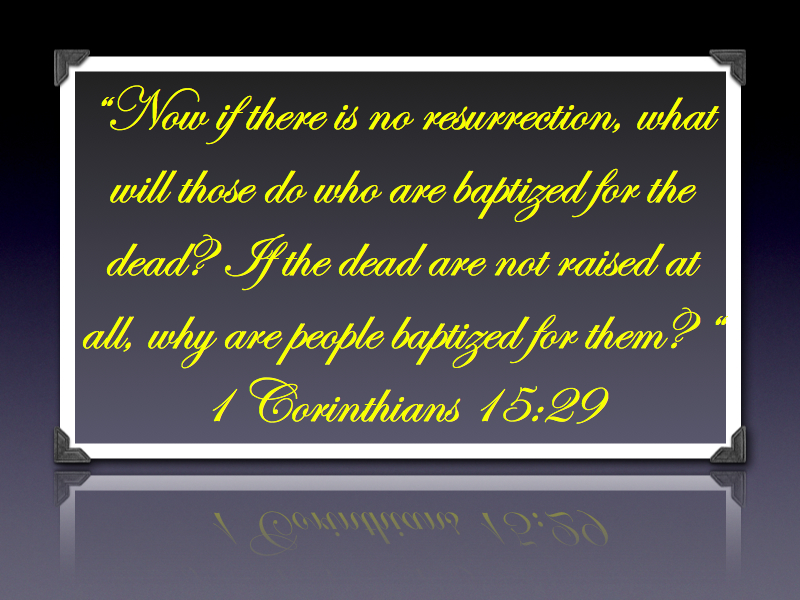 1 Corinthians 15:29