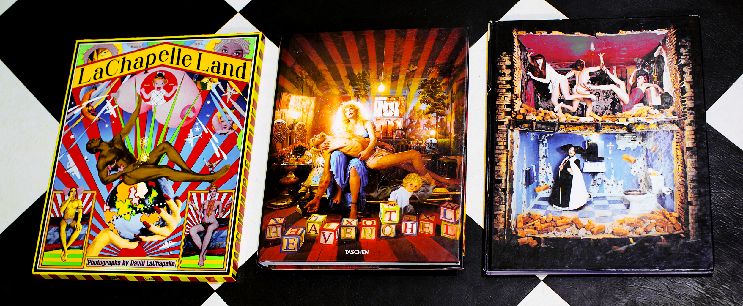 A few of my LaChapelle books. I find myself opening these once every other day or so just when I need a spark in my creativity.