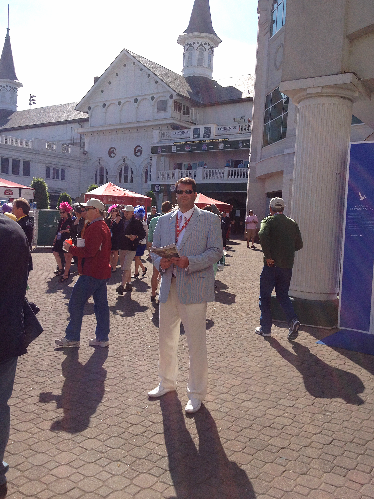 Tom Carley On Kentucky Derby Day.  Tom Carley is a contributing correspondent to www.racehorses.com