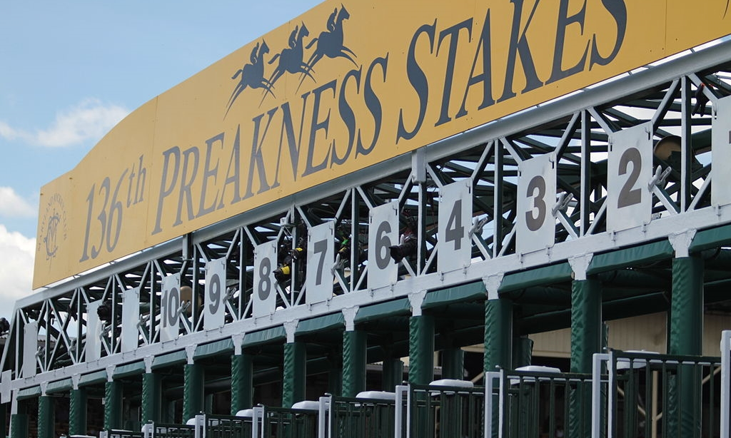 """""""2011 Preakness Stakes starting gate"""" by Fisherga - Flickr: IMG_1444. Licensed under CC BY 2.0 via Wikimedia Commons - http://commons.wikimedia.org/wiki/File:2011_Preakness_Stakes_starting_gate.jpg#/media/File:2011_Preakness_Stakes_starting_gate.jpg"""