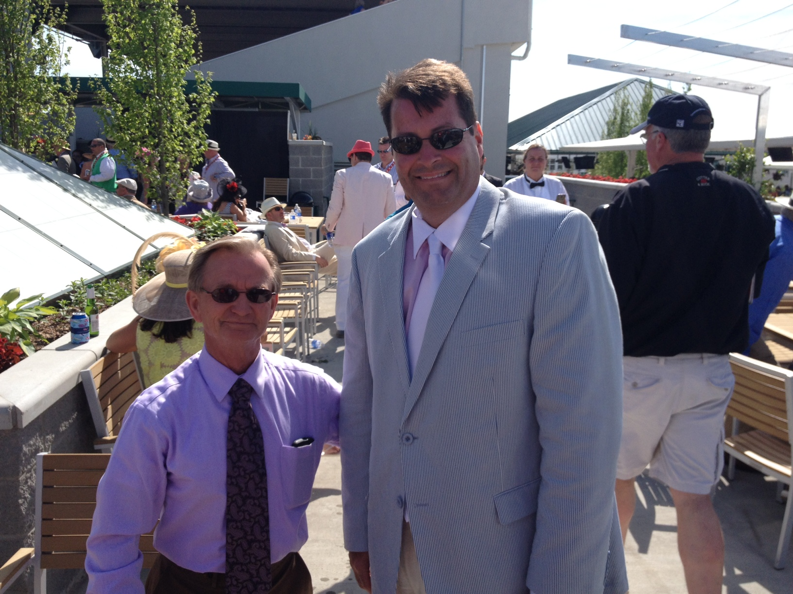 with jockey  Pat Day , who has ridden at least three Kentucky Derby winners and is the all time leading jockey at Churchill Downs. He is also active in the Jockey Chaplain service.
