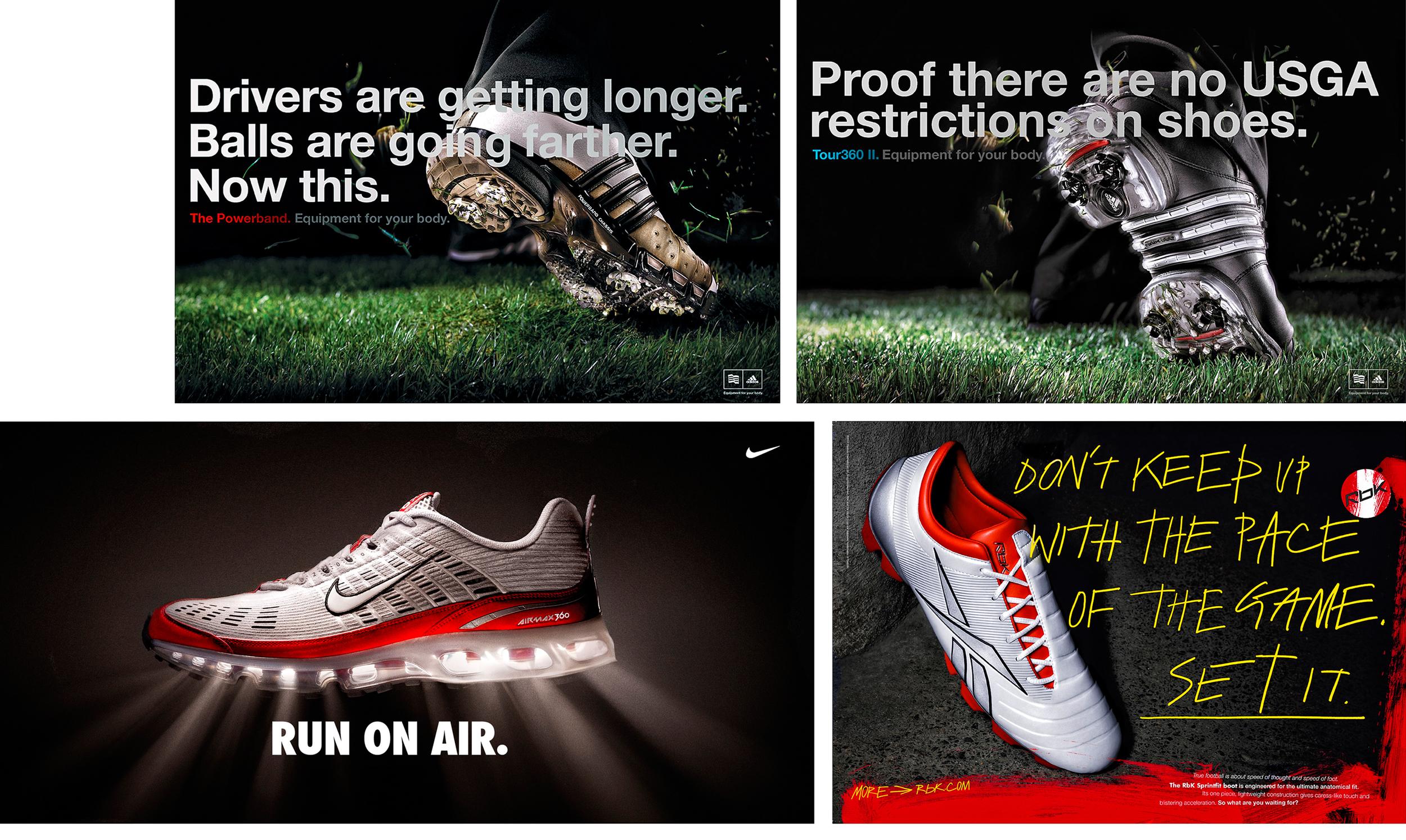 Adidas; TBWA Chiat Day -Nike; Soul Nitro - Reebok; Leagas Delaney