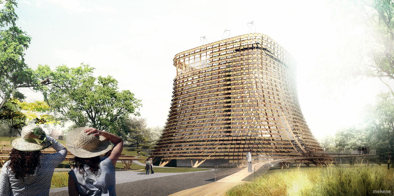 Perspective 3d architecture rendu