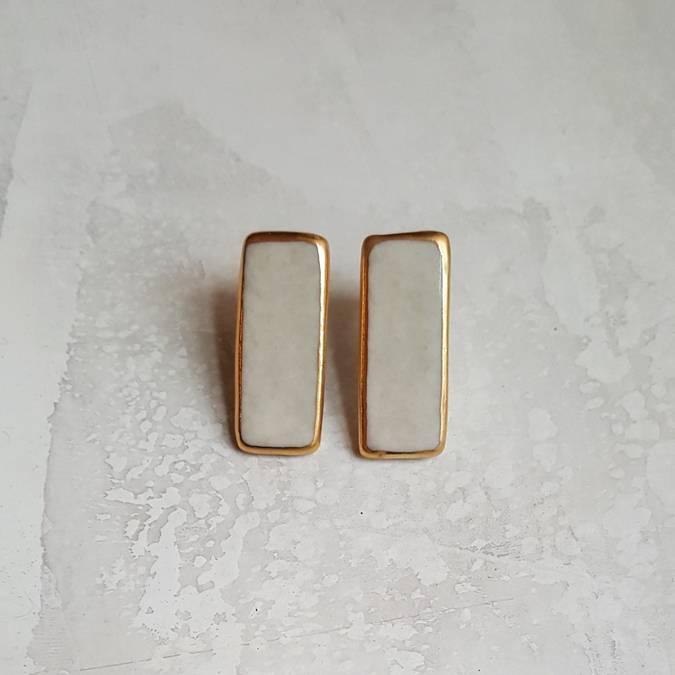 Porcelain Stud Earrings —$32 -