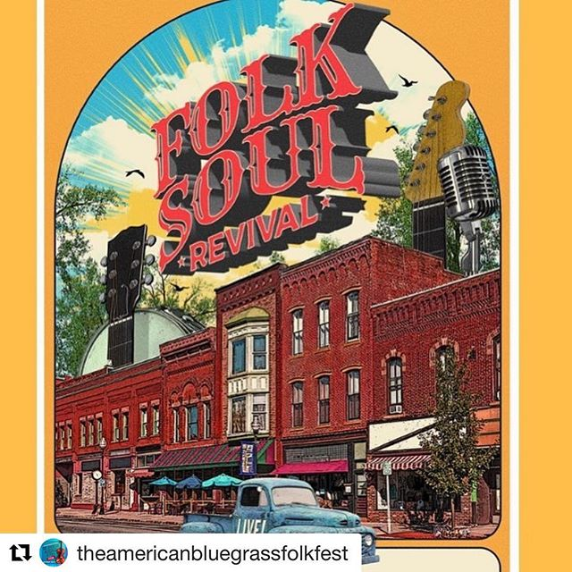 #Repost @theamericanbluegrassfolkfest with @get_repost ・・・ 4 DAYS UNTIL The American Bluegrass & Folk Festival! We'll see y'all on May 4th. 🎻🎻🎻 3:30 - 4:30 VIP Tent opens, Vendors & Shopping on the Square 4:30 - 5:40 The Adventures of Annabelle Lyn 6:00 - 7:00 Lou Wamp & Lon Eldridge, The Ragtime Resonators 7:20 - 8:20 Midstream Horse 8:40 - 9:40 BoDean and the Poachers 10:00 - 11:15 Folk Soul Revival  VIP TICKETS: link in bio 🥂🥂🥂