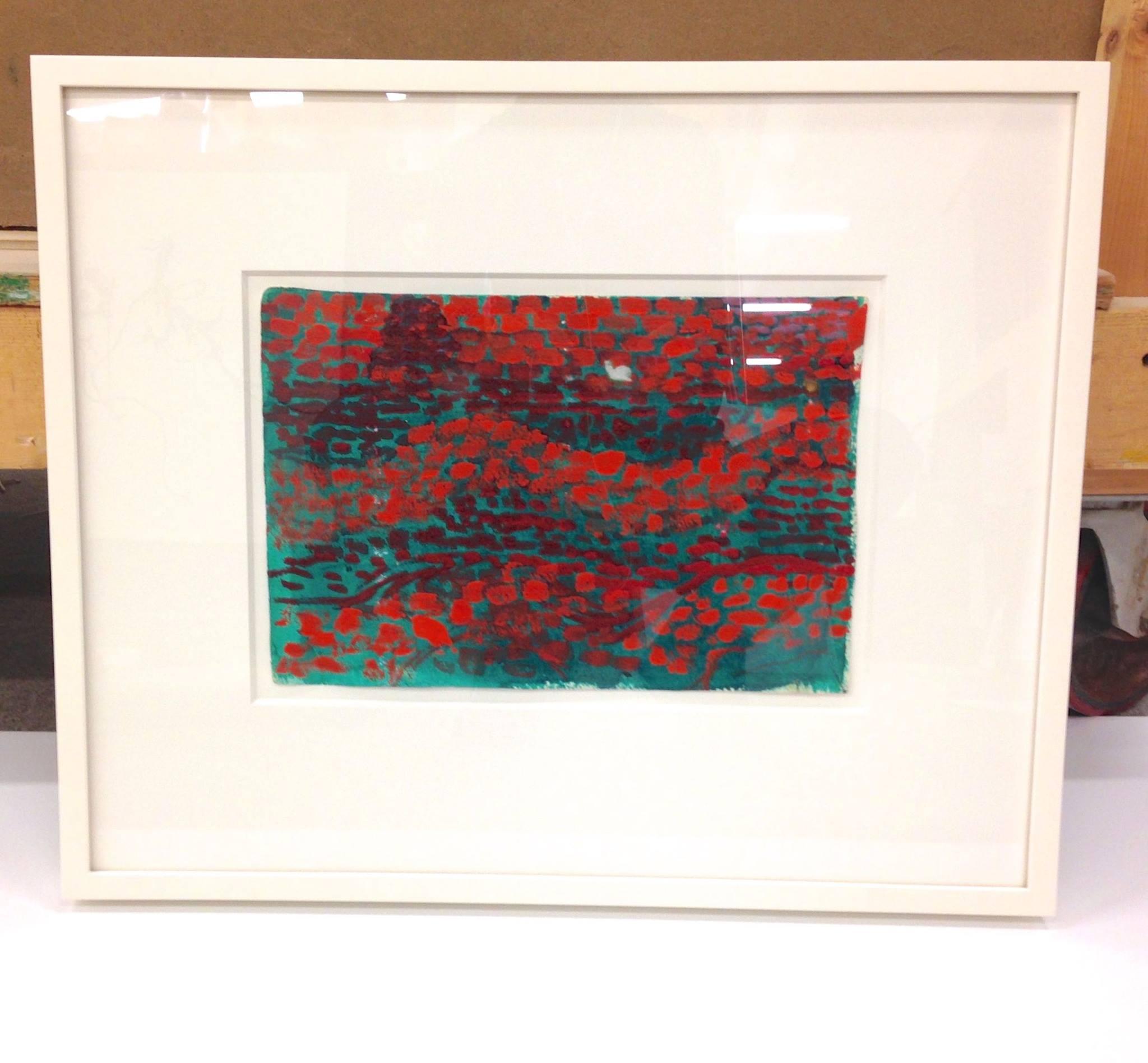 "1/2"" x 1 1/2"" Offwhite frame, 8 Ply island mat, UV Plexi"