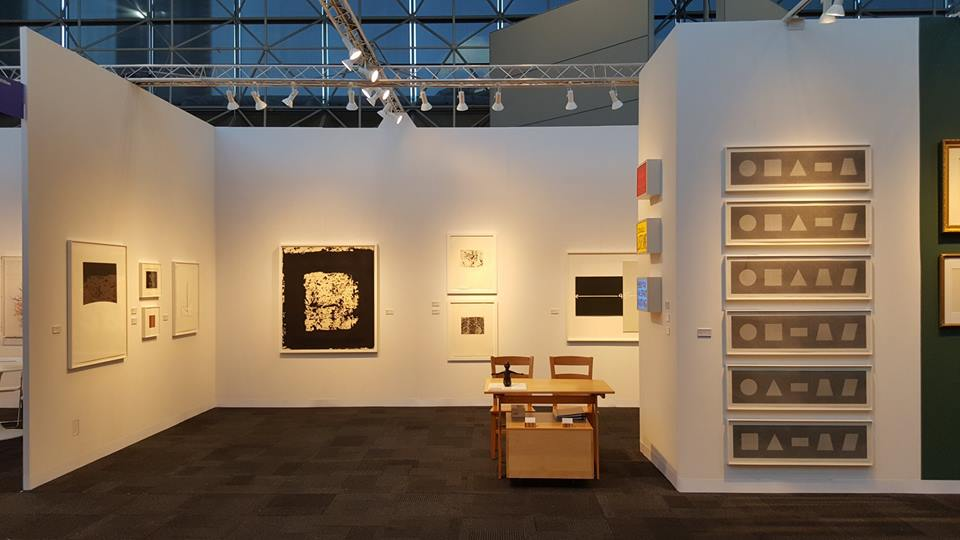 Krakow Witkin Gallery's beautiful booth at the IFPDA Print Fair will include some of PSG's frames.