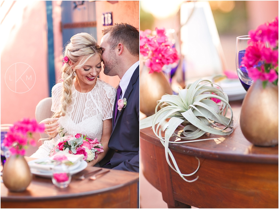 southwestern-elegant-wedding-air-plants-bougainvillea