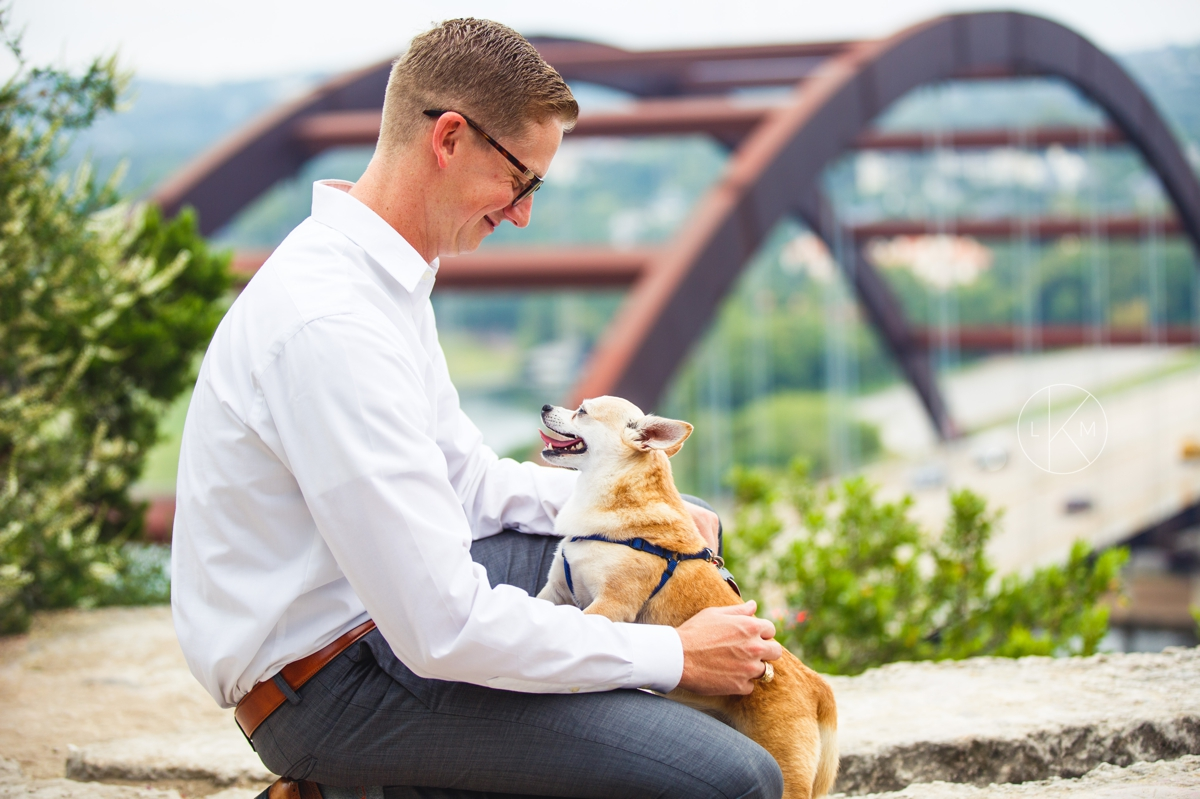 doggy-engagement-session-pennybacker-bridge-austin